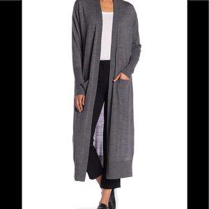 All Saints Amai gray merino wool cardigan sweater